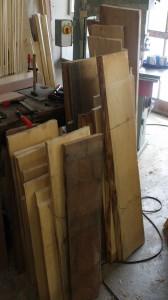 Zuschnitt für die Holzpfeifen, derzeit noch komplett roh