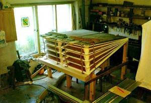 keilbalganlage der zuberbier-orgel im schloß köthen